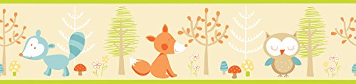 Fun4Walls BO50063 Forest Friends Multi Peel and Stick Border
