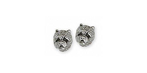 Westie Earrings Jewelry Sterling Silver Handmade West Highland White Terrier Earrings WS5H-E