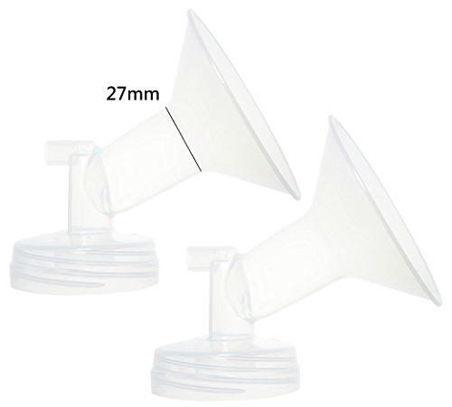 Nenesupply 2 27mm Flanges for Spectra S2 Spectra S1 Spectra 9 Plus Breastpump. Made By Nenesupply. Not Original Spectra Pump Parts Not Original Spectra S2 Accessories Replace Spectra Flange