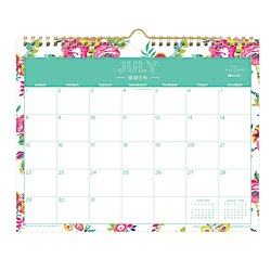 Day Designer For Blue Sky 2018 2019 Academic Year Monthly Wall Calendar  Twin Wire Binding  11  X 8 75   Peyton White Floral Design