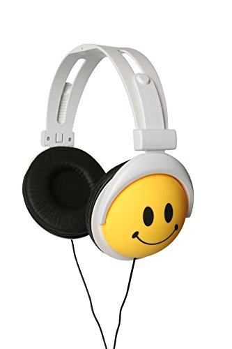Original AUTHENTIC HAPPY CANZ Smiley Face Emoji Foldable Fully Adjustable Over-Ear Padded Headphones by Roxant by Roxant (Image #4)