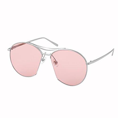 174d9a8ac3 HAIYING Gafas De Sol Para Mujer Gafas De Sol Con Espejo Clásico Para Mujer Vintage  Retro Aviador Classic Con Doble Marco De Metal Con Protección UV400 ...