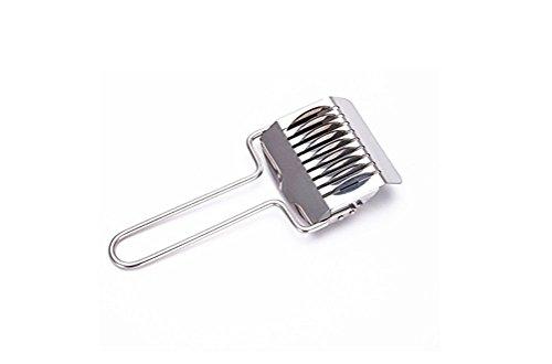 - AIBER Pasta Noodle Cutter Stainless Steel Pasta Spaghetti Maker Noodle Lattice Roller Dough Cutter Mincer Kitchen Tool