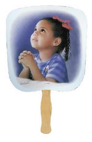Swanson Christian - Parlor and Church Hand Fan - Traditional Style - Prayerful - Praying Girl Image (25) by Swanson Christian
