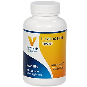 The Vitamin Shoppe LCarnosine 500MG, Antioxidant That Supports Cardiovascular Cellular Health (100 Capsules)