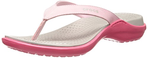 crocs Women's Capri IV Flip-Flop,Petal Pink,6 M US by Crocs