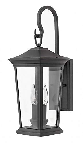 Hinkley 2364MB Bromley Outdoor Wall Sconce, 2-Light 120 Total Watts, Museum Black