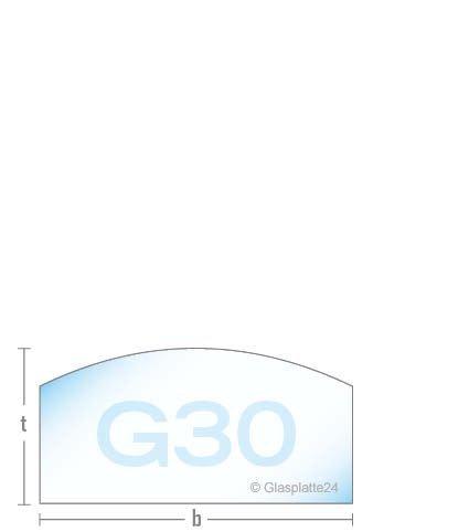 DURAFLAMM® - Kamin - Rundbogen - Funkenschutzplatte Glasplatte G30