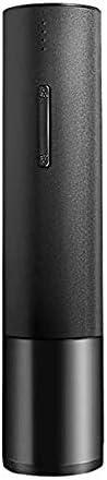 Zeerkeer Sacacorchos Eléctrico, Abridor de Botellas Electrónico, Botella de Vino Eléctrico para Estanque Tapones de Vino Tapón de Champán Anillo de Vino Invertido (Negro)