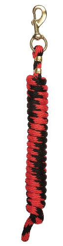 Weaver Leather 35-2100-T4 Poly Lead Rope with a Solid Brass 225 Snap, Red/Black