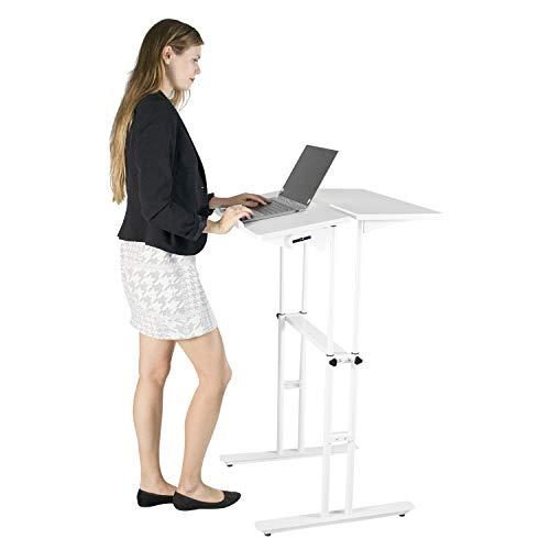Stand Up Desk Standing Height Adjustable Computer Work Station White-1 Desk