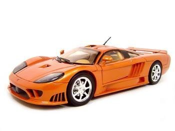 MotorMax 2004 Saleen S7 Die-cast 1:18 Scale Collectible Model Car (Orange) by Motormax