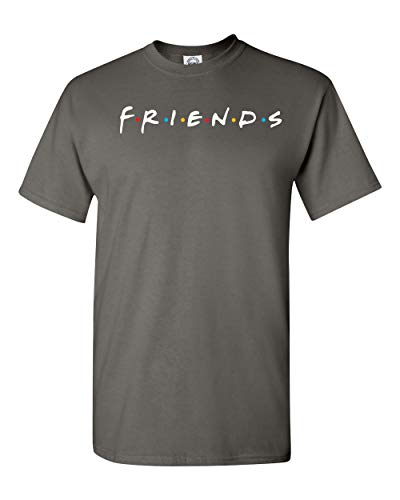 Uzair Friends TV Show T-Shirts (Charcoal, (Best Shac Friend Graphic Tees)