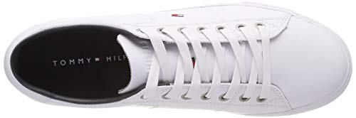 Tommy Uomo 100 Leather Hilfiger Basse Sneaker Bianco Scarpe Essential White Ginnastica da rOrxRqw