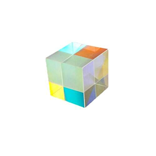 Yubenhong Square Cube Prism,15mm Refractor Crystal Clear Prism Optical Glass Multi-Using for Science Teaching Physical Lessons Window Decoration Light Spectrum Sunlight Reflect Photography (1 PC)