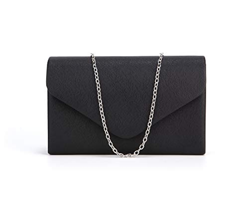 Black Evening Handbag Clutch Purse - Nodykka Crossbody Bags for Women Pu Leather Evening Shoulder Handbag Clutch Purse Party Bridal