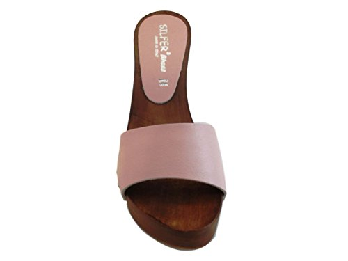 Rosa pesca Pink Silfer One Women's Size Shoes Clogs wTCgHIq