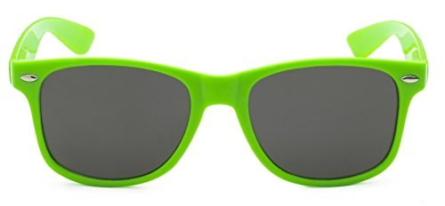 Sunglasses Classic 80's Vintage Style Design (Green)