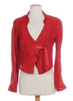3322 Femme Rouge Vestes Et Accessoires Vêtements w007Eq