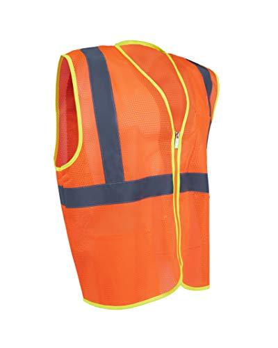 Safety Depot Mesh Safety Vest with Zipper and Pockets Hi Viz 2