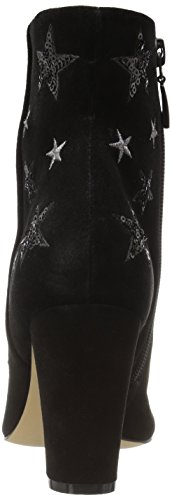 The Fix Women's Nash Star Sequin Oval Heel Ankle Bootie, Black, 9 B US