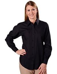 Wrinkle Free Solid Shirt, Classic Fit, Black, Women's Sizes 14W-24W
