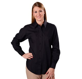 Black Button Down Shirt Womens