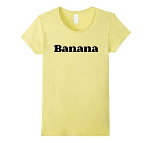 Going Bananas Costume (Womens Banana Costume Shirt - Cute Halloween Costume Fruit Gift Tee Small Lemon)