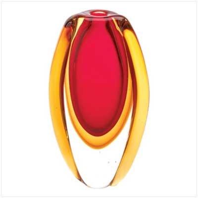 Sunfire Glass Vase - SUNFIRE GLASS VASE - Home Decor