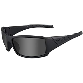 5b1bb8581e Wiley X Tactical Street WX Twisted Glasses Black Ops Smoke Grey Lens Matt  Frame  Amazon.co.uk  Clothing