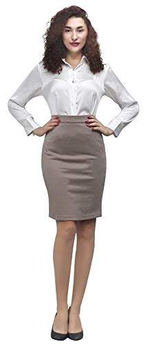 Marycrafts Women's Work Office Business Pencil Skirt L Gauntlet ()