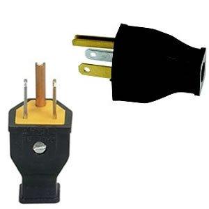 3 pin 3 wire usa north american mains electricity plug amazon com rh amazon com how to wire a plug american wiring a plug usa