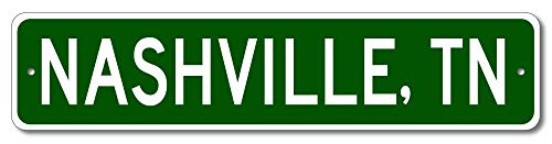 Nashville, Tennessee - USA City and State Street Sign - Aluminum 4