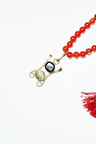 Mogul intérieur bouddhiste mala perles cornaline Kundalini Pendentif Tibétain Yoga Jewelry