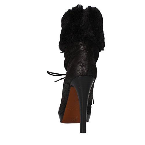 38 PINKO Suede EU Woman AF906 Black US Ankle 8 Boots Fur waaAFzTq