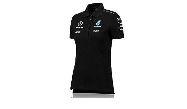 Mercedes AMG F1 Team Polo de color negro,, Negro: Amazon.es ...