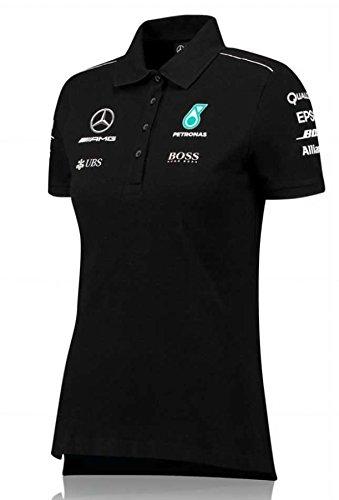 Mercedes AMG F1Damen schwarz Team Polo