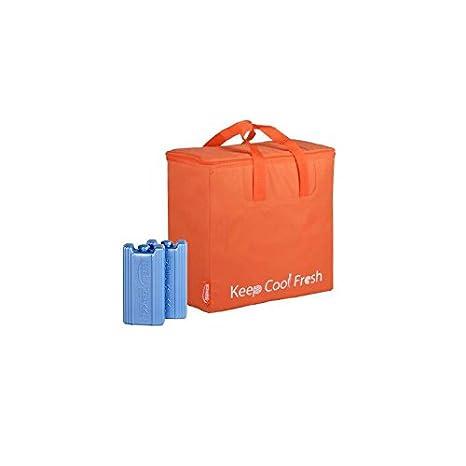 EZetil Bolsa Nevera KC Fresh{32} en Naranja con{2} acumuladores de ...
