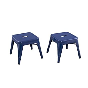Reservation Seating Kids Steel Stool, Navy, One Size 0