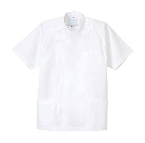 納屋気づくなる安価なナガイレーベン NAGAILEBEN 男子横掛半袖 PUT-3577(M)ホワイト