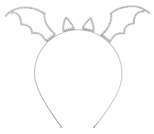 Bat Costume Ears (Mix&Match Festive Stone Halloween Costume Headband - Bat Ear Wing, Cat Ear, Devil Horn (Bat Ear/Wing-HCR-S))