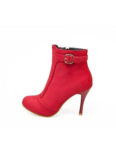 La Negro Stiletto Cn34 Zapatos Rojo Tacón Black Xzz Noche Vellón Eu35 Uk3 Mujer Eu39 Moda De Botas Cn39 Fiesta us5 us8 A Uk6 Vestido Y Red q0ww46xC