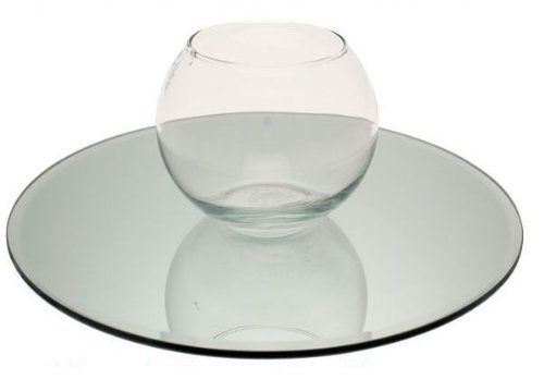 30cm Round Mirror Candle Plate, Box of 12 Ultra Glass UK