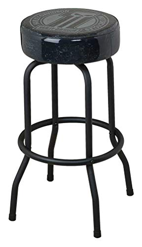 (Harley-Davidson Bar Stool Dark Custom #1 Skull 360 Degree Swivel Stool HDL-12130)