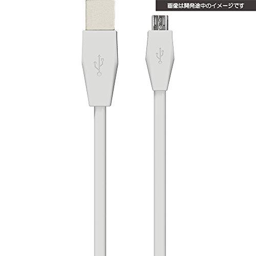 USBコントローラー充電フラットケーブル 4m ホワイトの商品画像