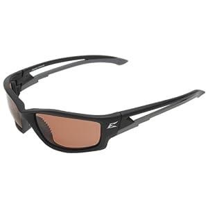 "Edge Eyewear TSK215 Kazbek Polarized Safety Glasses, Black with Copper ""Driving"" Lens"