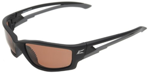 Edge Eyewear TSK215 Kazbek Polarized Safety Glasses, Black with Copper