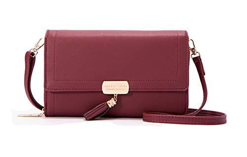 Molodo Handbag Satchels Bags Purse Red Shoulder PU Wine Tote Crossbody Leather aw71pqra
