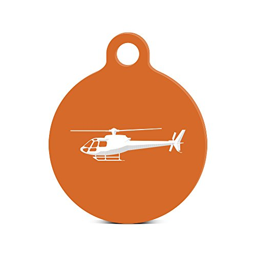 airbus-eurocopter-as350-helicopter-round-keychain-with-tab-engraved-orange