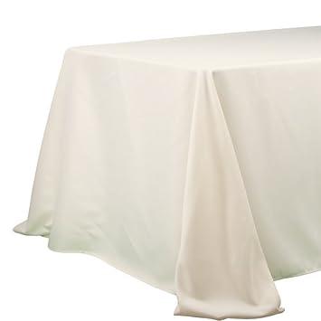 Nice Richland Rectangle 90u0026quot; X 132u0026quot; Tablecloth Ivory
